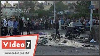 أثار إنفجار سيارتين خلف قسم ثان أكتوبر ورجال المفرقعات يمشطون المنطقة