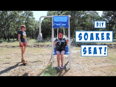 Fun Outdoor Water Game! How to Build a Soaker Seat