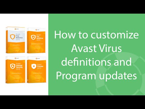 How To Customize Avast Virus Definitions And Program Updates
