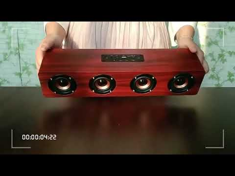 Live Tech Jalsa Wooden Bluetooth Speakers Nut Brown Colour