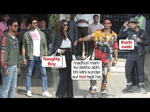 Ranveer Openly FLIRTS Wid Madhuri InFront Of Varun Kartik & Vicky On Airport While Leaving For IIFA