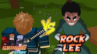 Defeating Rock Lee AGAIN in Shinobi Story Open Testing!   Roblox