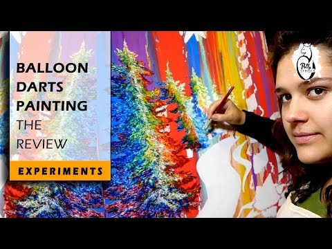 How to Make a Balloon-Darts Painting | Experiment Technique Review #1