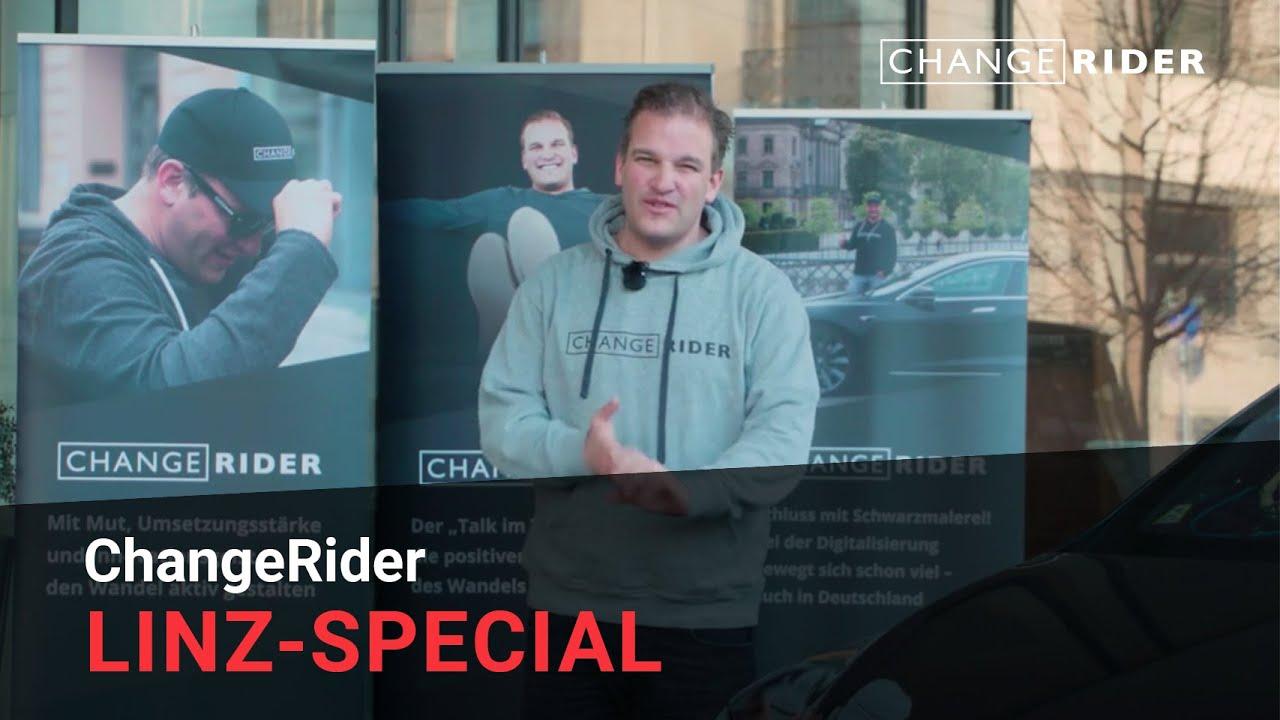 ChangeRider #20 Linz-Special: Mitarbeiter mitnehmen, sich der KI nicht verschließen und in neuen Mustern denken.