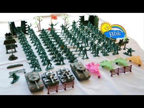 Домашние сражения игрушек ↑ Военные солдатики, танки, ракеты, катера, машинки ↑ Обзор игрушек
