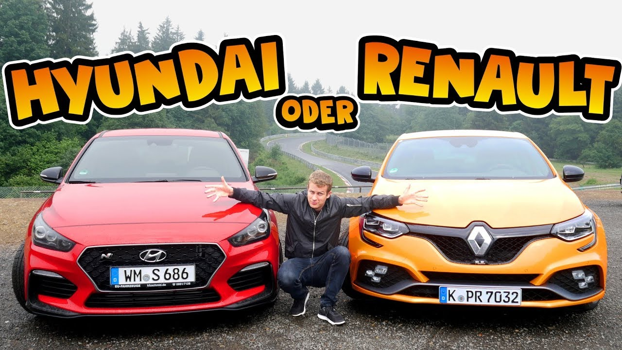 Hyundai I30N Performance Vs Renault Megane Rs Welcher Hot Hatch Ist Besser Fahr Doch