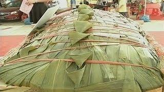 В Китае приготовили двухметровый рисовый пельмень (новости)