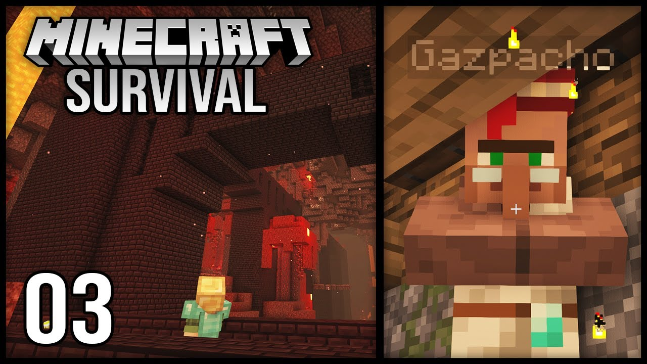 Minecraft 1.17 Survival Let's Play - Episode 3 - Curing my FAVORITE villager!