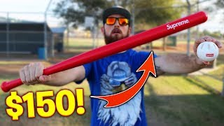 $150 Supreme Wiffle Ball Bat! Is It Worth It? IRL Baseball Challenge