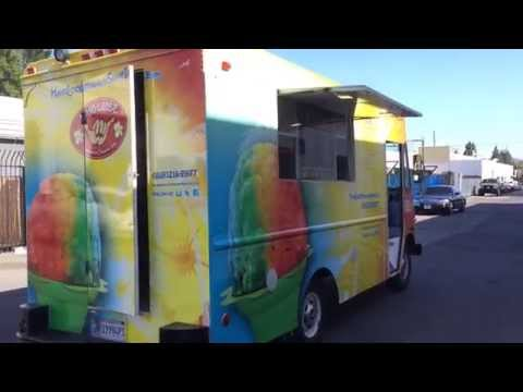 Hawaiian Hang Loose Shaved Ice Truck by La Stainless Kings  food truck builder