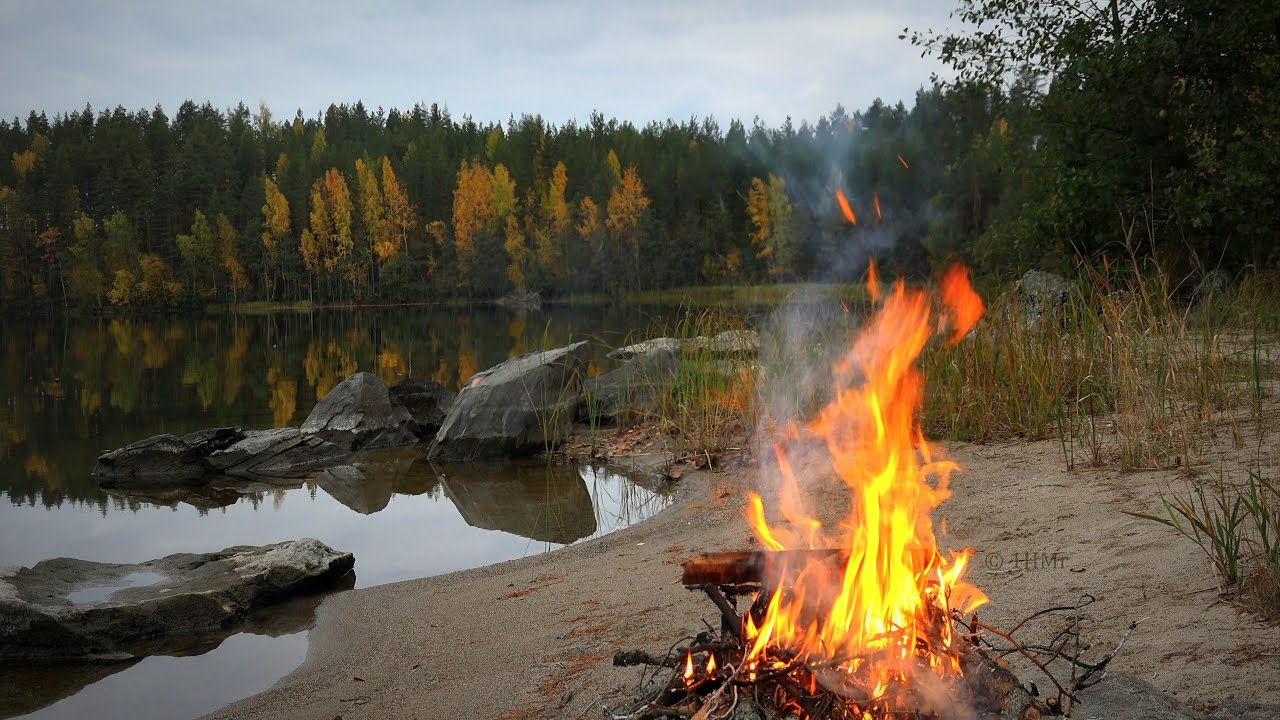 Scenic Fall Wallpaper 4k Perfect 🔥 Campfire Autumn Scenery On Beach Best In