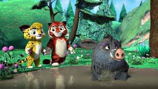 Лео и Тиг сборник серий с 25 по 27 Детям про животных Мультфильм HD