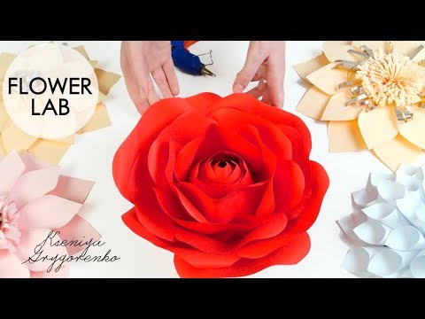 1088bcccad Diy Rose Tutorial (Giant Paper Rose) How to Make Paper Flowers - YouTube