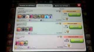 Clash of clans avec jako131 !!!! Stratégie d'attaque plus on vole beaucoup de ressources !!!