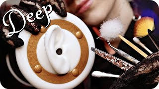 Download ASMR Ear Cleaning DEEP w/ Scraping (NO TALKING) Q-Tips, Tweezers, Feather, Metal & Bamboo Pick + Mp3 and Videos