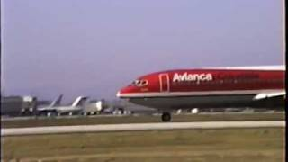 Avianca Boeing 707-359B Arriving at LAX