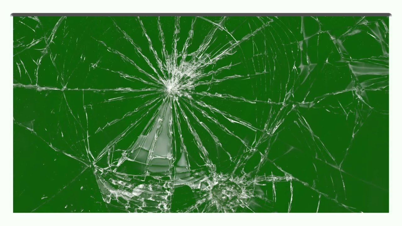Glass Panel Shatters Green Screen Effect Youtube