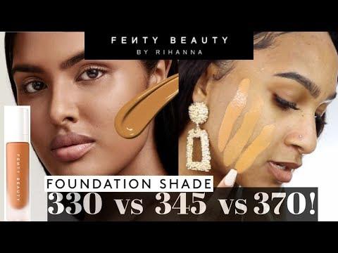 FENTY BEAUTY *NEW* SHADE 345 Pro Filt'r Foundation | 330, 345 & 370 SHADE COMPARISION!