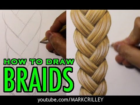 How to Draw Braids: Full Color Narrated Tutorial