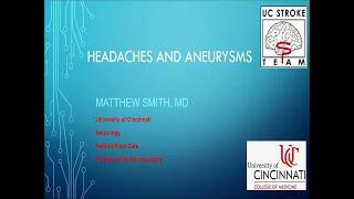 Headaches and Aneurysms w/ Dr. Matthew Smith