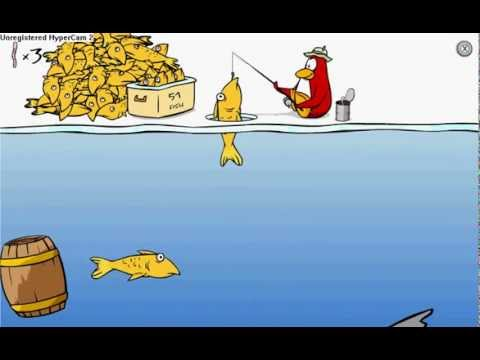 CLUB PENGUIN ICE FISHING HOW TO CATCH BIG FISH