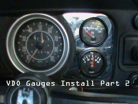 vdo oil pressure temp gauge part 2 youtube rh youtube com  VDO Instument Bulbs