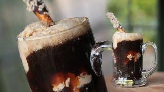 Chocolate Stout Ice Cream Float W/ Peanut Butter Ice Cream || Kin Eats