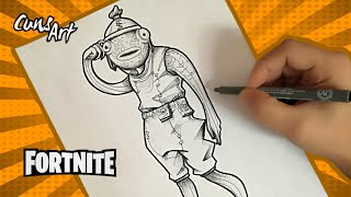 HOW TO DRAW THE SKIN FISH STICK ? FORTNITE ? how to draw fishtick skin