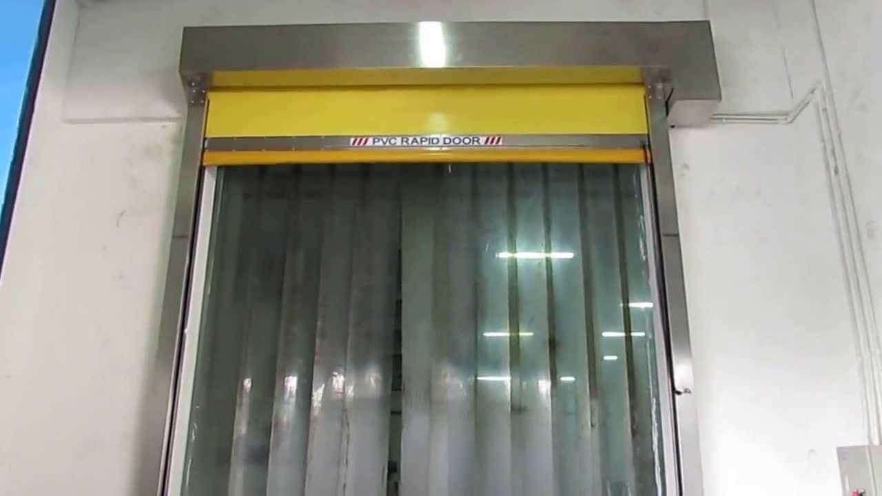 Tirai Plastik High Speed Door PVC Strips Sheet at Indofood TIRAIPVCcom  YouTube