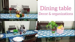 Dining table decor and organisation ideas || ডাইনিং টেবিল সাজানোর সাতটি আইডিয়া || Bangla vlog