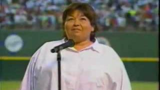 Roseanne sings the National anthem