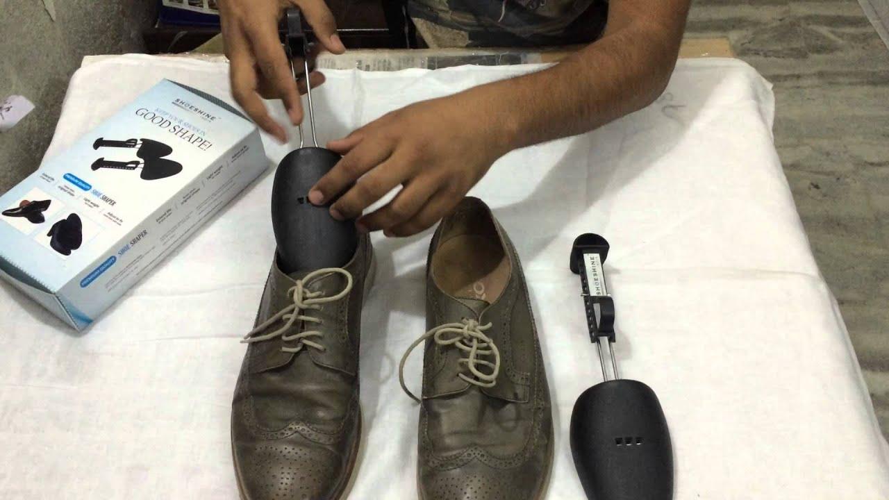 use adjustable plastiic shoe shaper