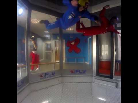Indoor sky diving lessons