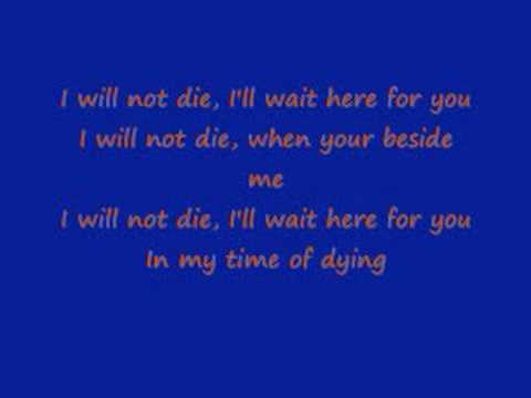 Three Days Grace- Time Of Dying Lyrics