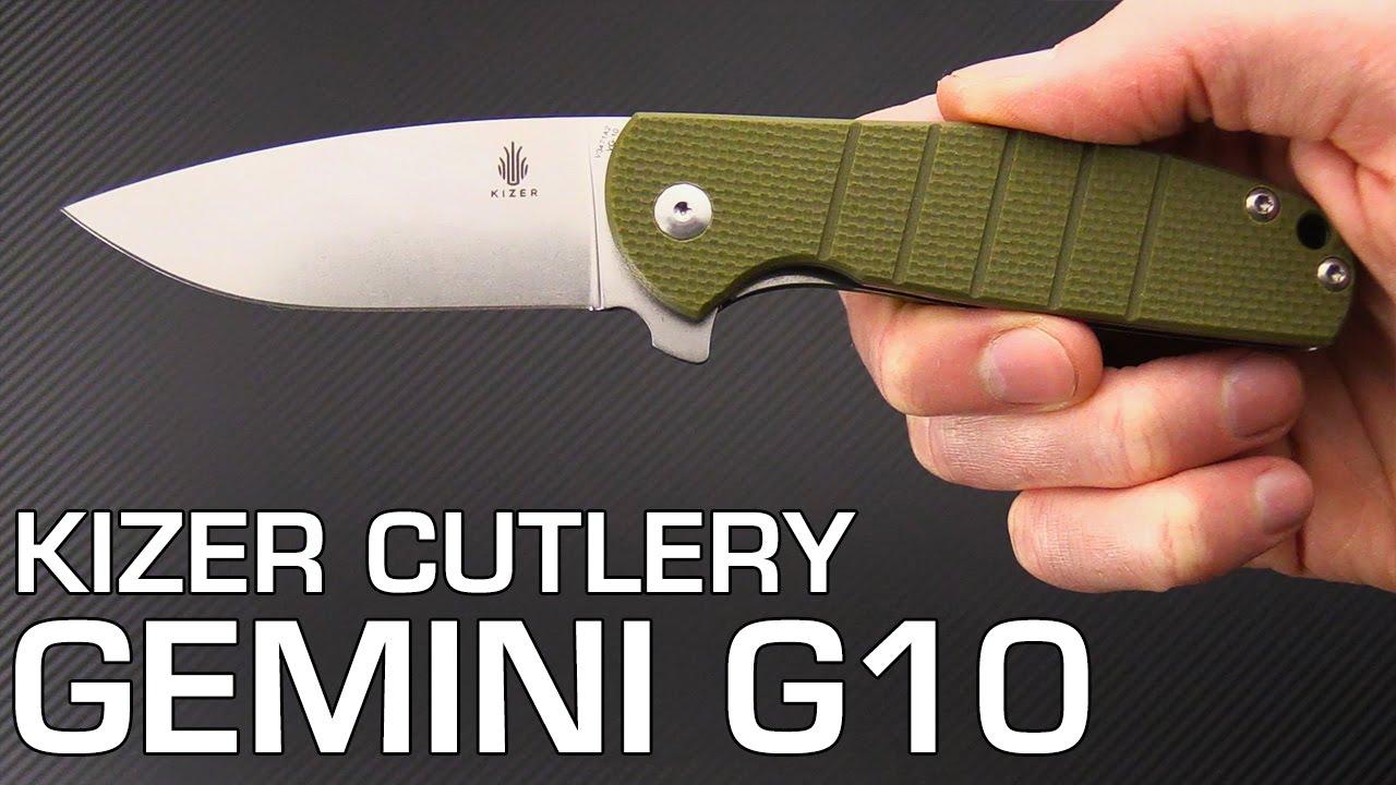 kizer cutlery laconico gemini g10 liner lock flipper folding knife