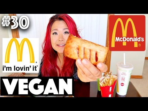 EATING VEGAN MCDONALD'S CANADA (MUKBANG) | #30 (30 Videos in 30 Days) ♥ Cheap Lazy Vegan