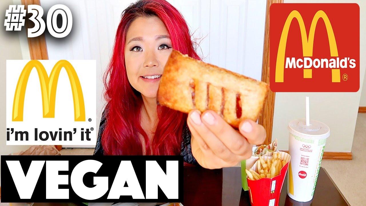 EATING VEGAN MCDONALD'S CANADA (MUKBANG)   #30 (30 Videos in 30 Days) ♥ Cheap Lazy Vegan