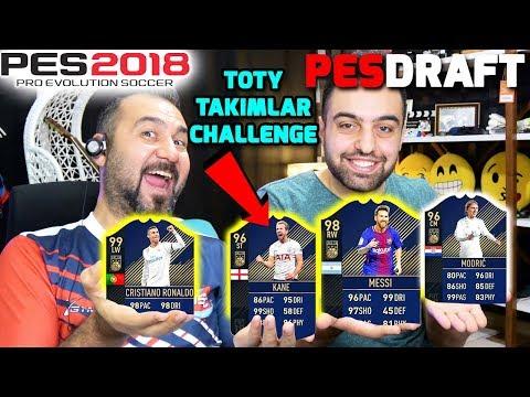 YILIN EN İYİ TAKIMLARI (TOTY) CHALLENGE | PES 2018 PESDRAFT