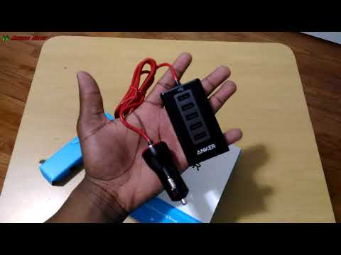 Anker 50W Quick Charge 5-Port USB Car Charger Unboxing
