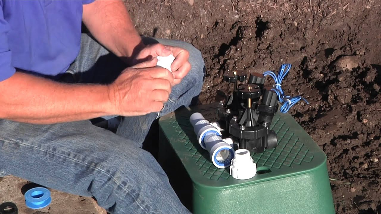 Pvc Lock 174 Irrigation Valve Manifold Tee Installation Pvcl