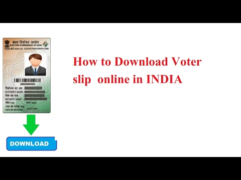 How to Download Voter ID card online in INDIA