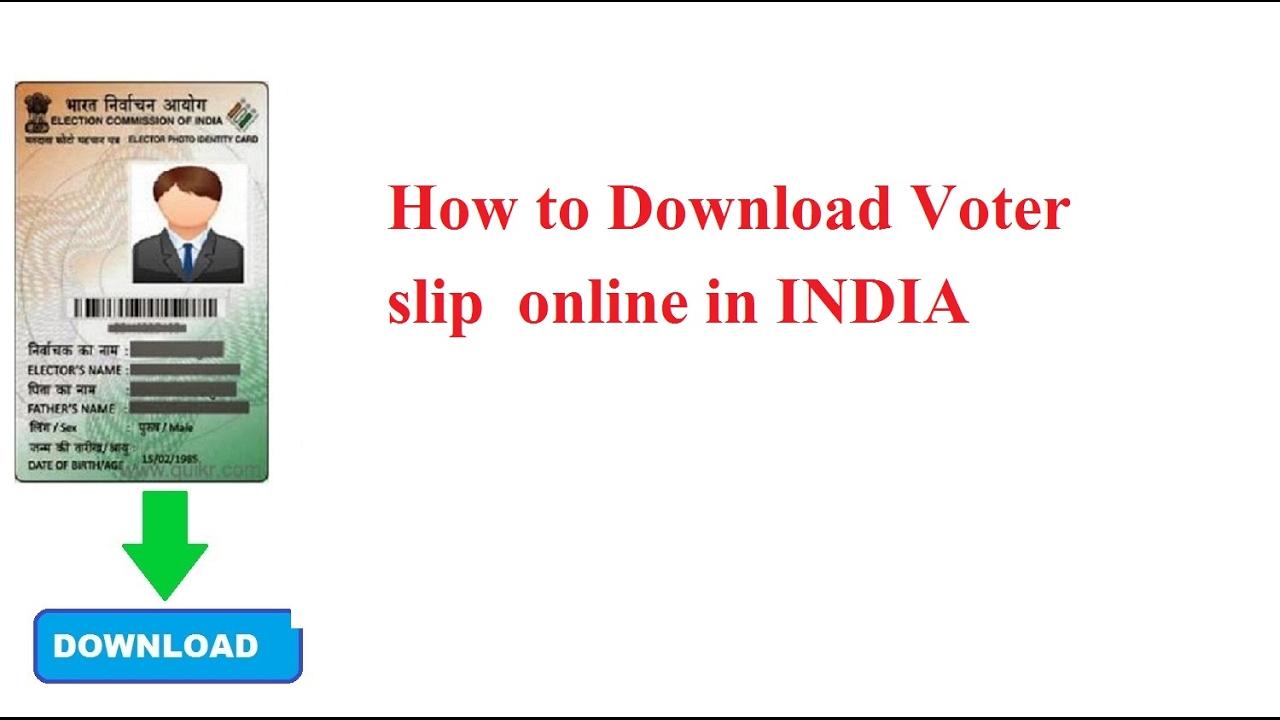 How To Download Voter Slip Online In India