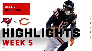 Allen robinson racked up 90 receiving yards on the night to help take bears downfield. tampa bay buccaneers chicago during week 5 o...