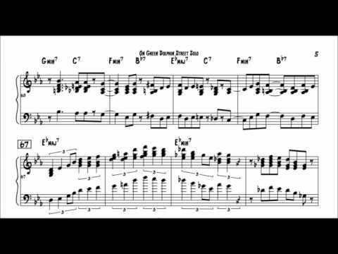 Bill Evans - Transcription - On Green Dolphin Street Solo - YouTube