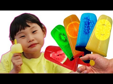라임의 과일 아이스크림 만들기와 수영장 시크릿쥬쥬 키즈카페 놀이 supermarket song nursery rhyme | johny johny