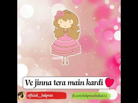 Jina tera main kardi || Punjabi whatsapp status song