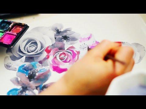 Textile Design - Floral Watercolor Experiement