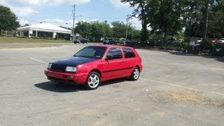 My old car 97 Vw Golf Jti Vr6 start up and drive
