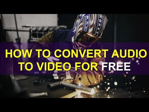 How to Convert Audio to Video for FREE.