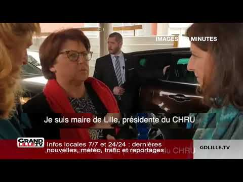 Visite ministérielle au CHRU Lille : la colère de Martine Aubry et de manifestants